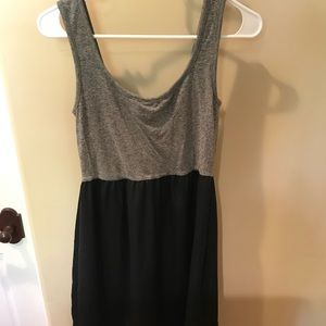 Gray and Black Tank Dress
